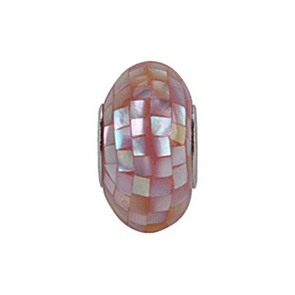 Kera Light Pink Mosaic Mother of Pearl Bead