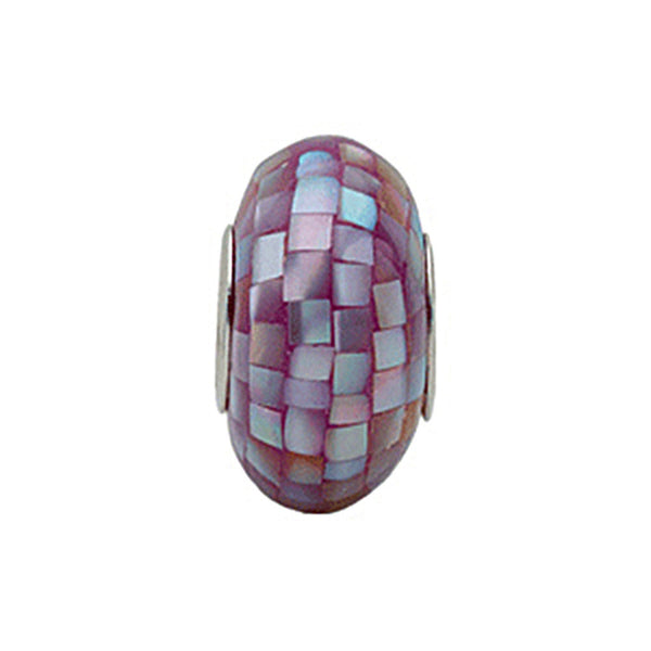 Kera Purple Mosaic Mother of Pearl Bead