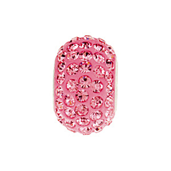 Kera Roundel Bead with Pave Rose Crystals