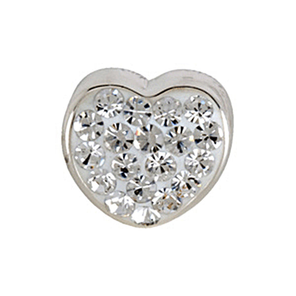 Kera Heart Bead with Pave Crystals