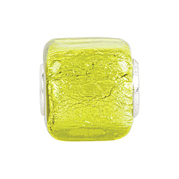 Kera Yellow Square Glass Bead