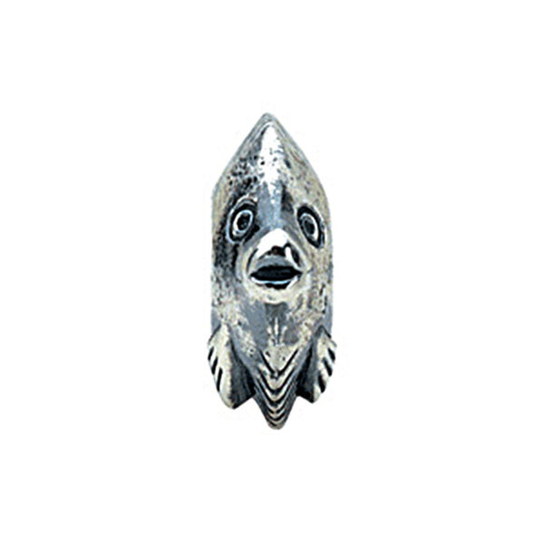 Kera Sterling Silver Fish Bead