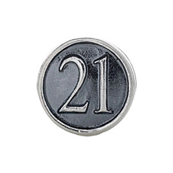 Kera Sterling Silver Number 21 Bead