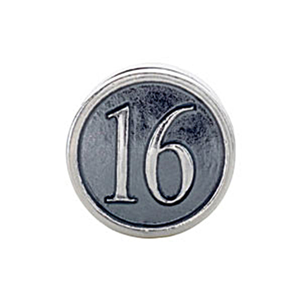 Kera Sterling Silver Number 16 Bead