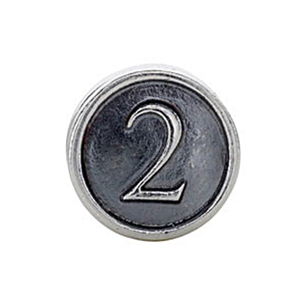 Kera Sterling Silver Numeral 2 Cylinder Bead