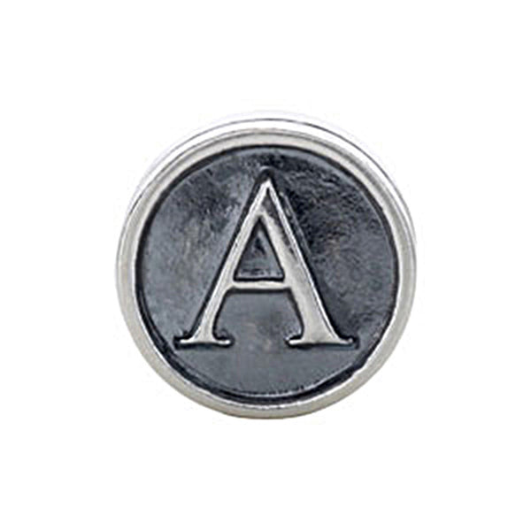 Kera Sterling Silver Alphabet Letter A Bead