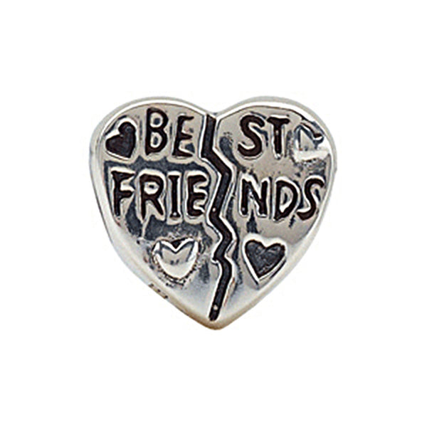 Kera Sterling Silver Best Friends Heart Bead