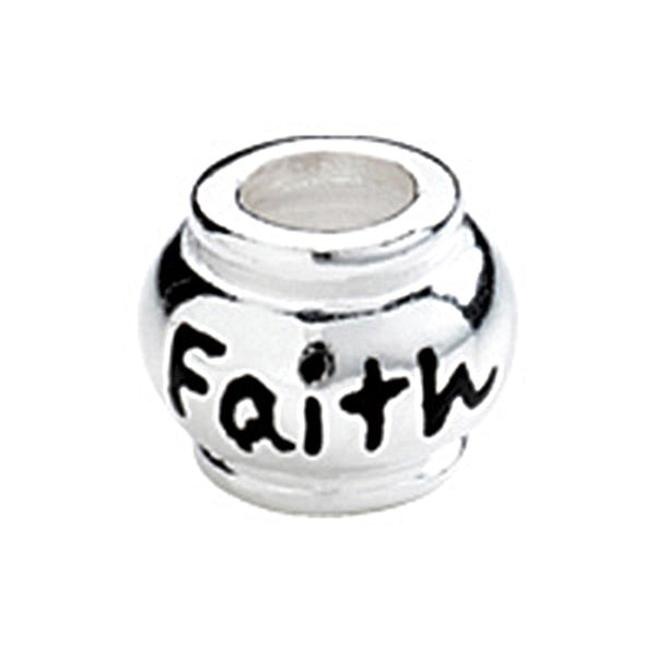 Kera Sterling Silver Faith Expression Bead