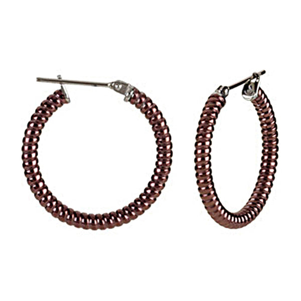 Chocolate Immersion 20mm Stainless Steel Shrimp Hoop Earrings-3mm