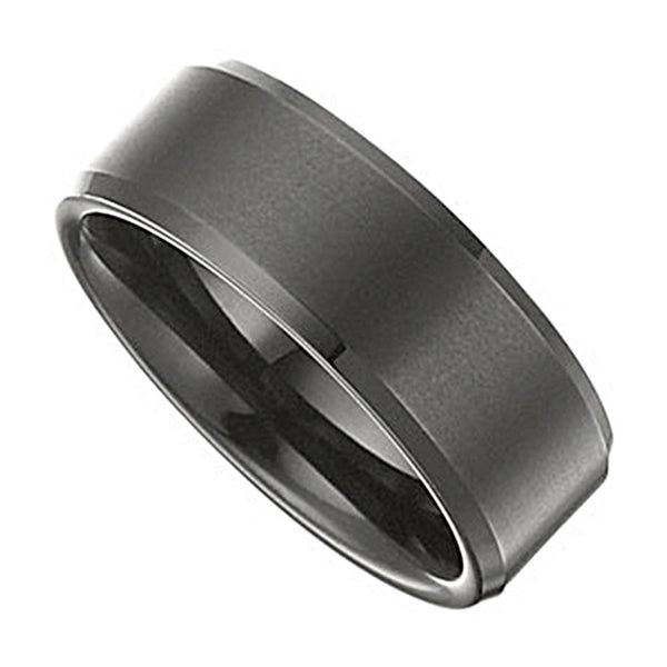 Black Immersed Tungsten Ring