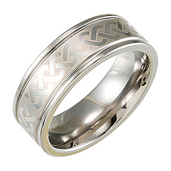 Tungsten Knot Design Band Ring