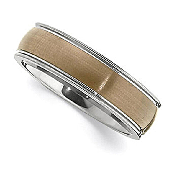 Chocolate Immersion Plated Tungsten Ring