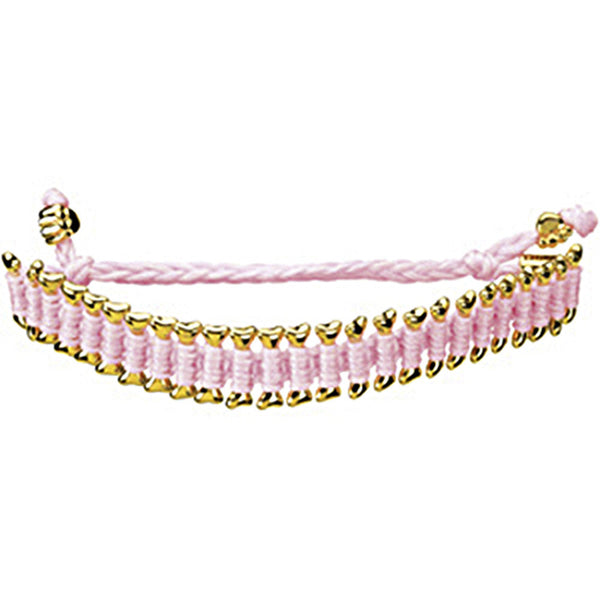 Heart U Back Gold Plated Dog Bone Pink Friendship Bracelet
