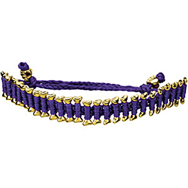 Heart U Back Gold Plated Dog Bone Purple Friendship Bracelet