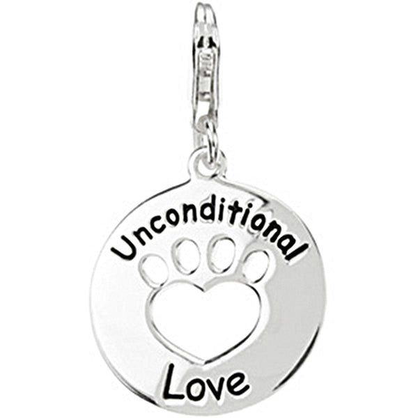 Heart U Back Unconditional Love Charm