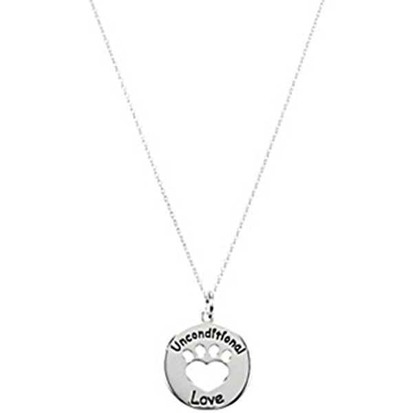 Heart U Back Unconditional Love Paw Necklace