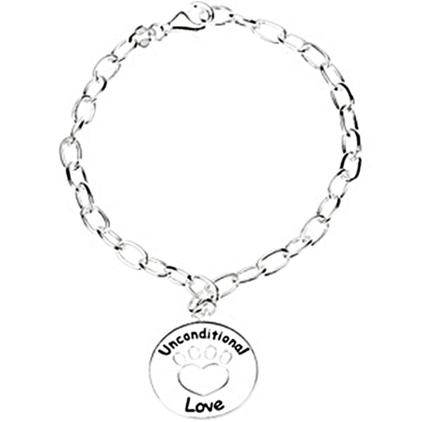 Heart U Back Sterling Silver Unconditional Love Bracelet