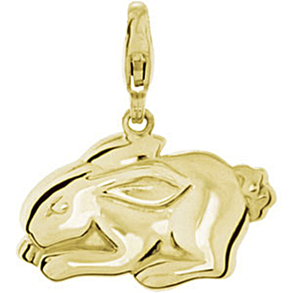 14K Yellow Gold Rabbit Charm