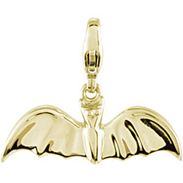 14K Yellow Gold Bat Charm