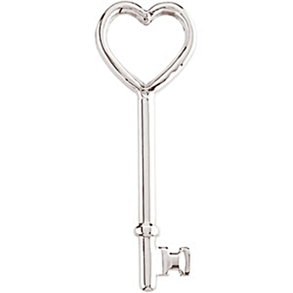 Sterling Silver Heart Key Pendant