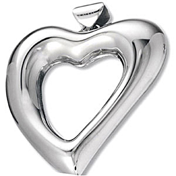 Amalfi Stainless Steel Open Heart Pendant