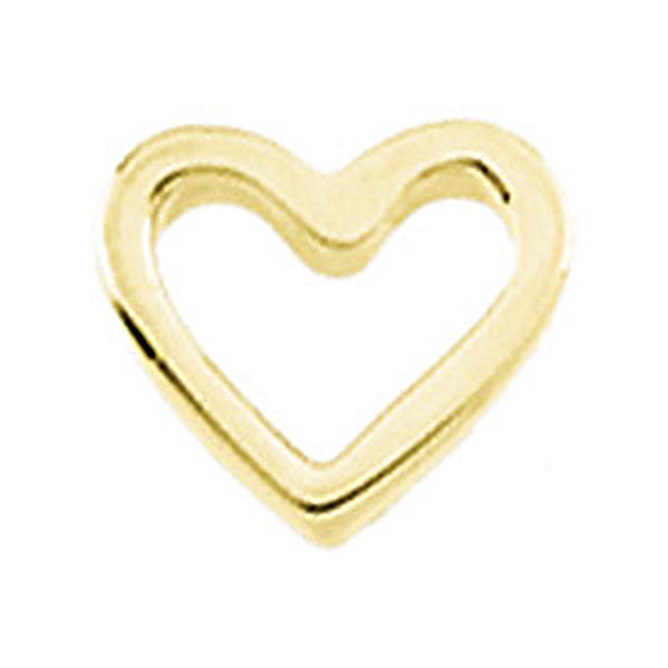 14K Yellow Gold Heart Slider Pendant