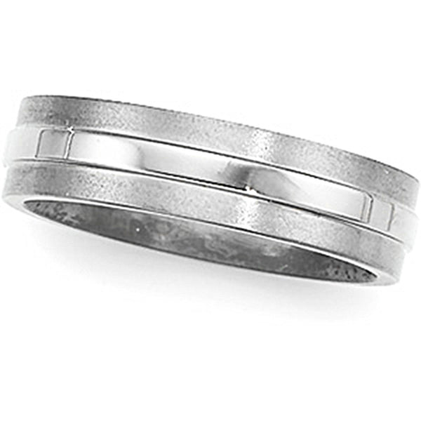 6mm Titanium Wedding Band Ring Comfort-Fit Band