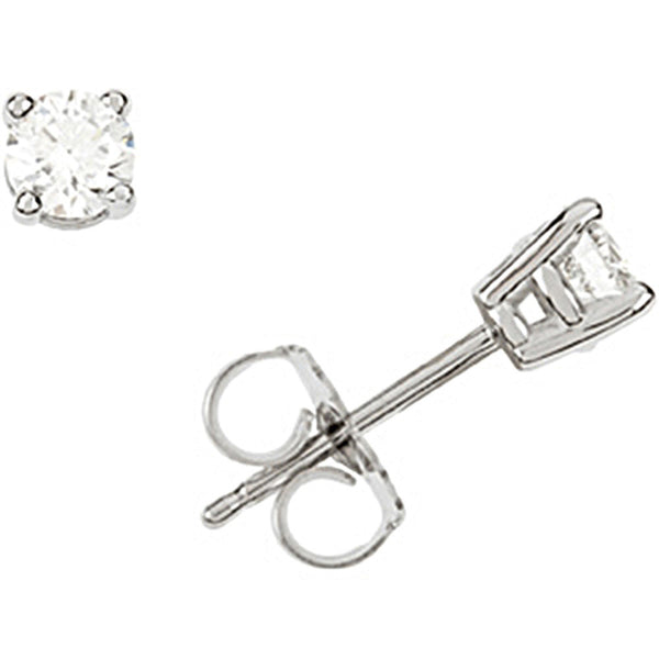 14K White Gold Diamond Stud Earrings (1/3 cttw, G-H Color, I1 Clarity)
