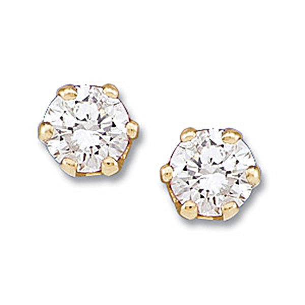 14K Yellow Gold Diamond Stud Earrings (1/5 cttw, G-H Color, S1 Clarity)