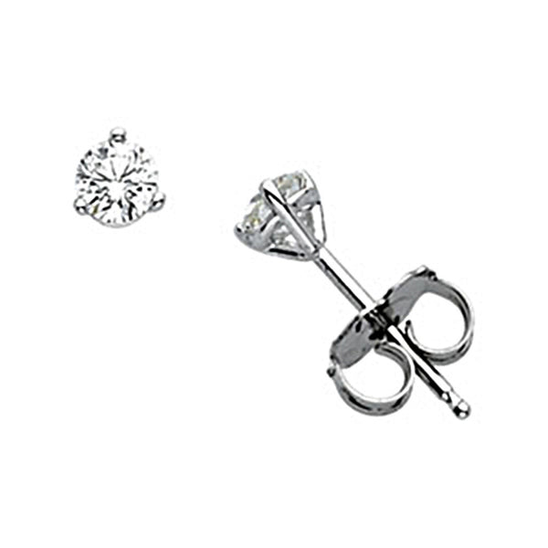 14kt White Gold Martini Diamond Stud Earrings (1/3 cttw, G-H Color, I1 Clarity)