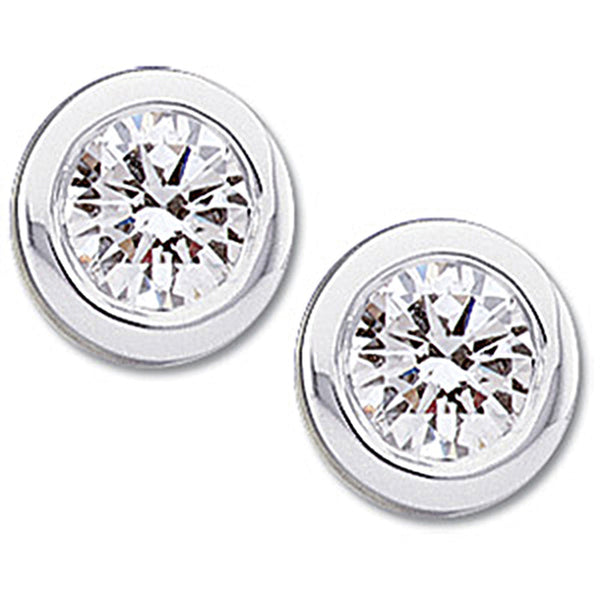 14kt White Gold Diamond Stud Earrings (1/2 cttw, G-H Color, I1 Clarity)