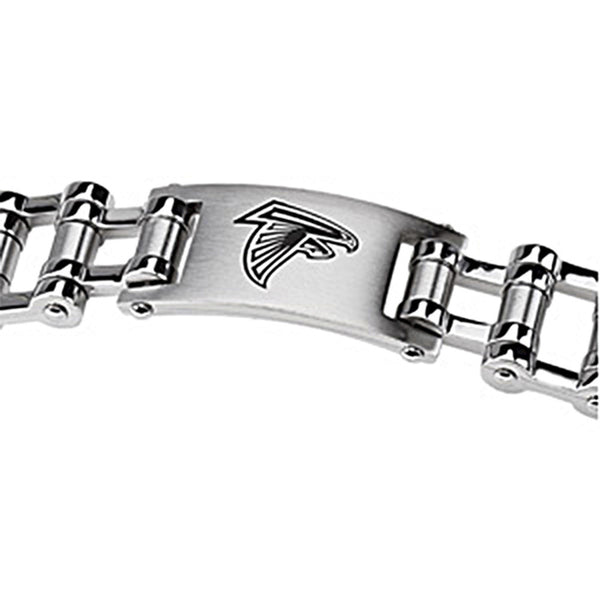 Stainless Steel Atlanta Falcons Logo ID Bracelet