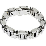 316L Stainless Steel Cross Link  Bracelet