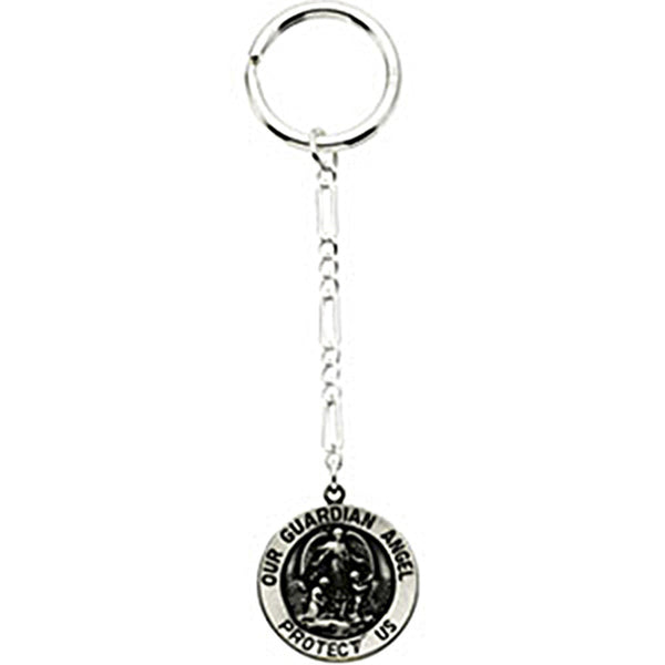 Sterling Silver Inspirational Blessings Guardian Angel Key Chain