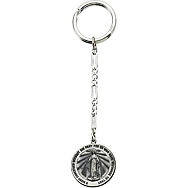Sterling Silver Inspirational Blessings Miraculous Key Chain