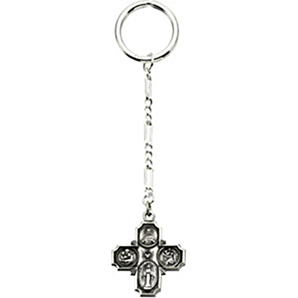 Sterling Silver Inspirational Blessings Four Way Key Chain