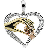 14K Yellow Gold Inspirational Blessings Tender Touch Pendant