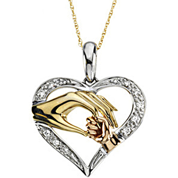 14K Yellow Gold Inspirational Blessings Tender Touch Necklace