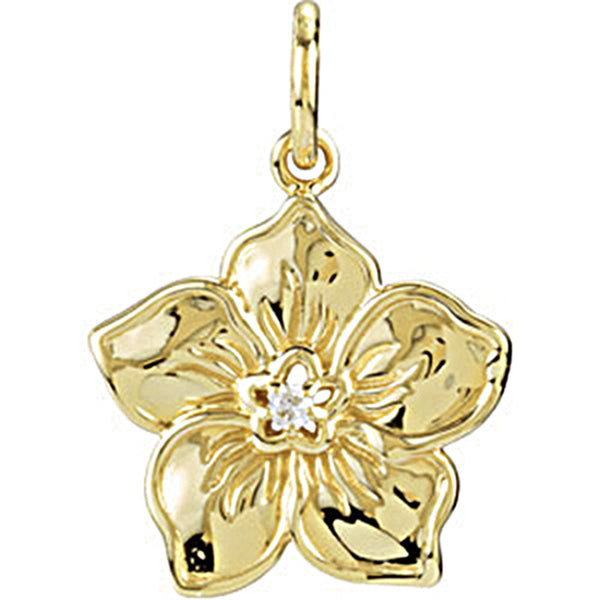 14K Yellow Gold Forget Me Not Charm