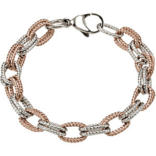 Amalfi Rose Gold Immersion Plated Stainless Steel  with Immerse Plating Women's Bracelet