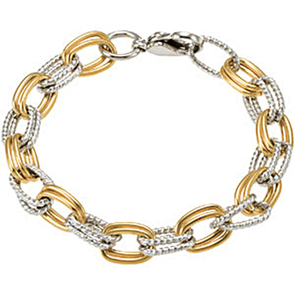 Amalfi Gold Immersion Plated Stainless Steel Bracelet