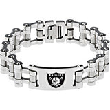 Stainless Steel Oakland Raiders Logo ID Bracelet
