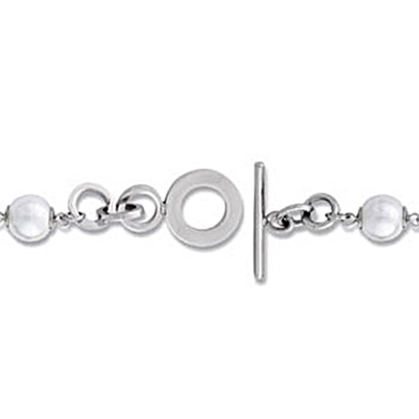 Amalfi Stainless Steel Pearl Bracelet Created with Swarovski Crystals