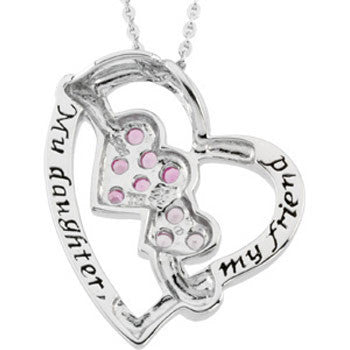 Inspirational Blessings Sterling Silver My Daughter and Friend Necklace