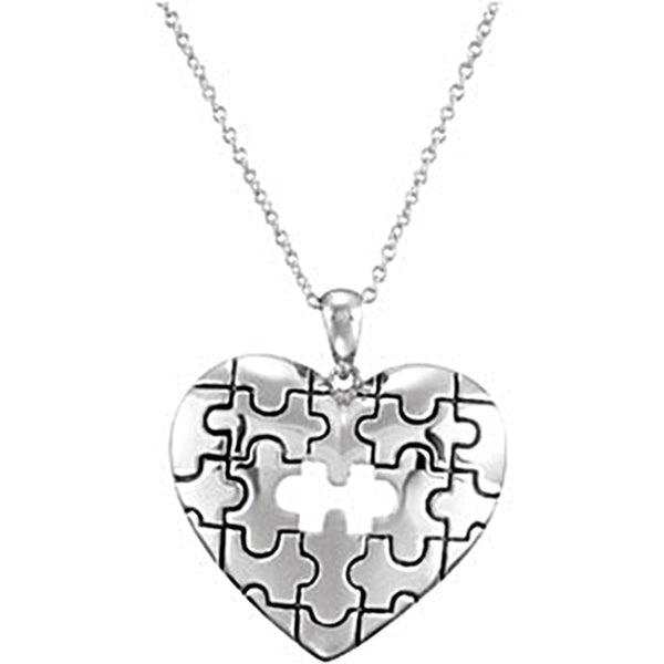 Inspirational Blessings Sterling Silver Piece of My Heart Necklace