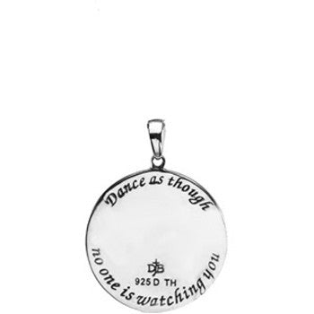 Inspirational Blessings Sterling Silver Dance Necklace