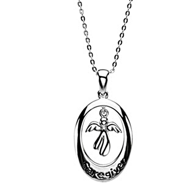 Inspirational Blessings Sterling Silver Caregiver Necklace