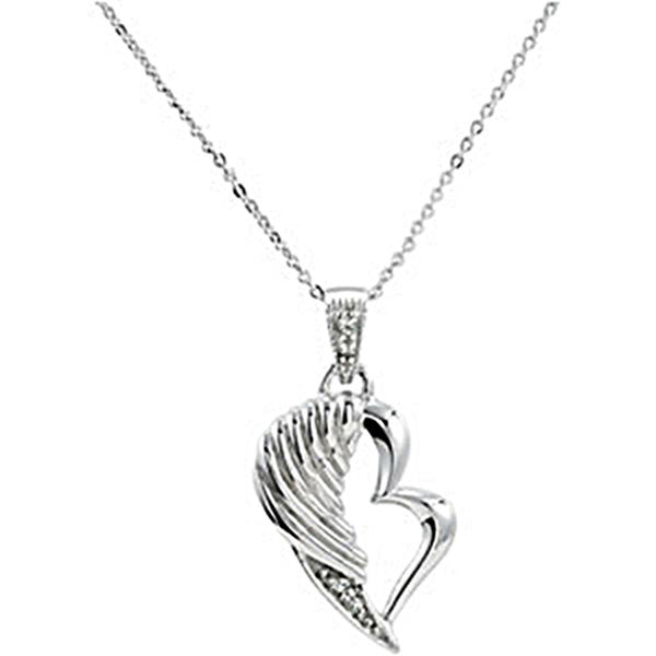 Inspirational Blessings Sterling Silver The Broken Wing Necklace