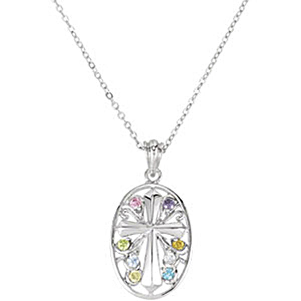 Inspirational Blessings Sterling Silver Celebrate Recovery Necklace