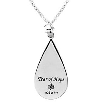 Inspirational Blessings Sterling Silver Tear of Hope Necklace